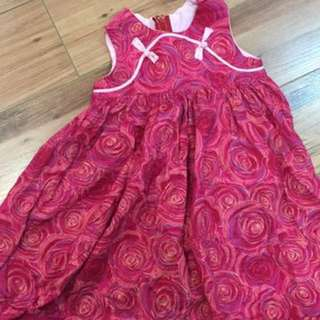 Girl cheong sam dress pink floral