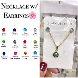 2 in 1 Necklace & Earrings