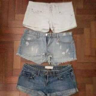 Low waist short pants