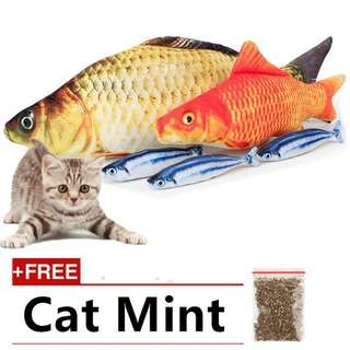 Fish pillow cat scracthing toys 40cm