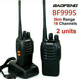 2 units BaoFeng BF-999S 3-5KM Walkie Talkie 16 Channel Radio