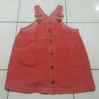Little Girl's Pink Denim Dress