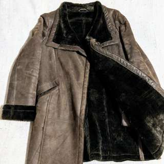 Danier Genuine Leather Coat (Size XS)