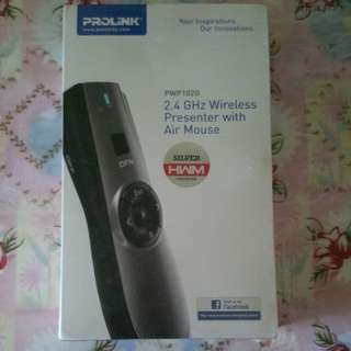 PROLINK 2.4ghz wireless presenter with Air mouse