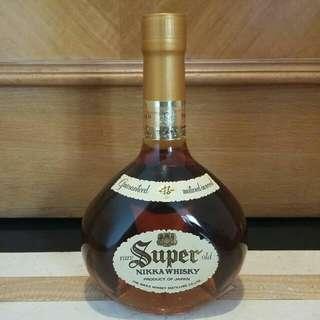 舊裝Nikka Super 43% 75cl Blended Whisky 日本日光調和威士忌 ( 冇盒 )