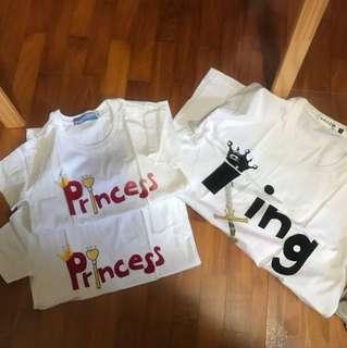 Princess print family tee