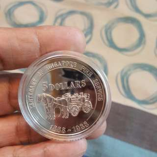 1988 $5 silver proof coin.