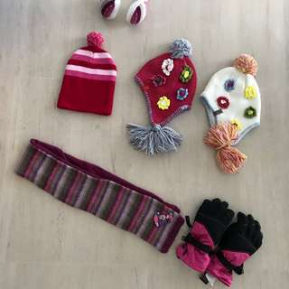 Winter clothes - hats, scarves, ear muffs, etc.