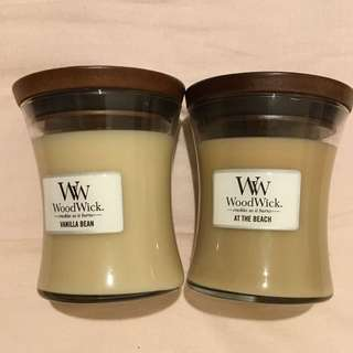 2 Woodwick candles