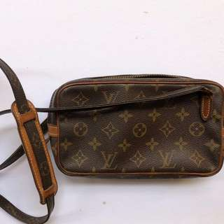 Authentic Louis Vuitton LV Marly Bandouliere Handbag Bag Purse