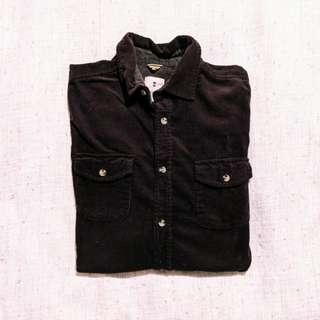 Vintage Mens Corduroy Long Sleeve Shirt (Size M)