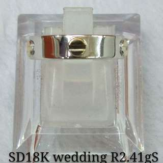 Wedding Ring Saudi Gold 18k