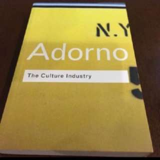 BN Adorno on The Culture Industry