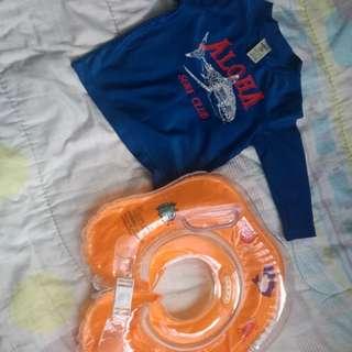 Baju renang & pelampung baby (neck float)