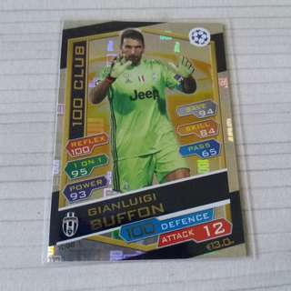 Match Attax Champions League 16/17 -Buffon HC (Scandinavian)