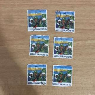 Singapore Stamps - Civil Defence. Army