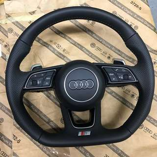 -USED- Original Audi Sport steering wheel w RS shifters