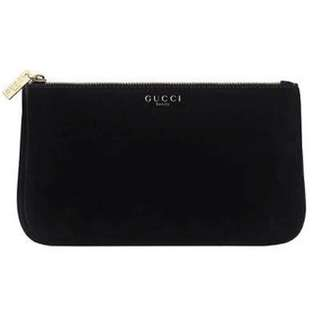 New gucci pouch in black velvet (counter gift)