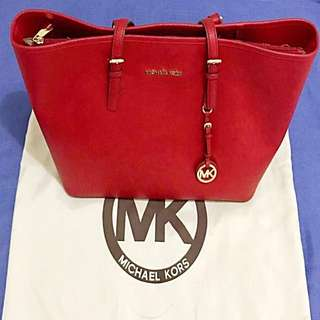 Preloved Auth Michael Kors Het Set Travel Saffiano Leather Bag