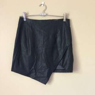 Faux Leather Mini Skirt Sz M