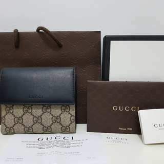 Gucci woman 2 folded wallet authentic full set