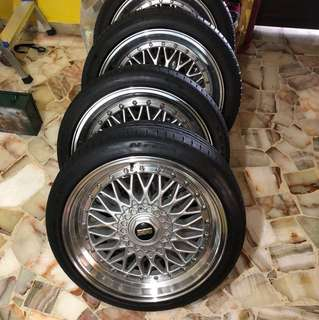 18 inch BBS RS (Rep) Rims with Tyres