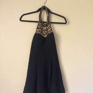 Black & Gold Jumpsuit Sz 6-8