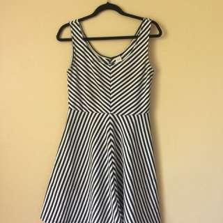 Stripy Dress Sz 10