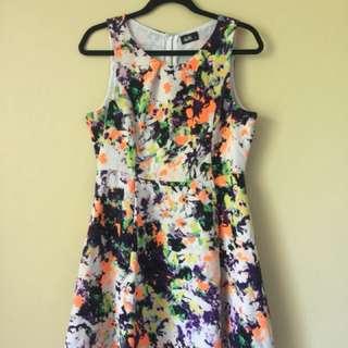 Colourful Dotti Dress Sz 12