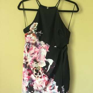 Halter Floral Dress Sz 12 Dotti