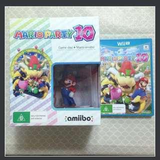 Wii U Mario Party 10 with Mario Amiibo