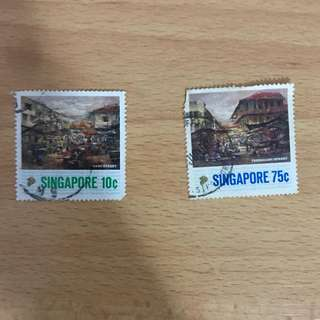Singapore Stamps - Singapore Old Streets
