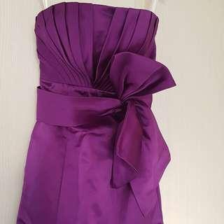 紫色魚尾晚裝