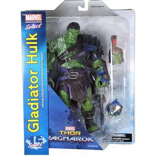 (預訂) Marvel Select: Thor Ragnarok Gladiator Hulk Action Figure 雷神電影版 戰神版侯克