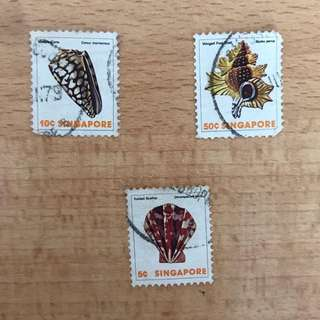 Singapore Stamps - Rare Seashells