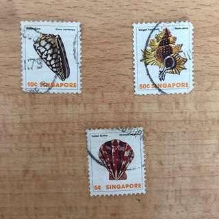 Singapore Stamps - Rare Seashells