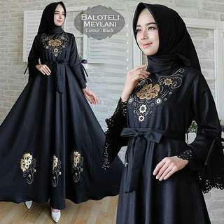 Balotelly Meylani Black Bahan Gamis Balotely
