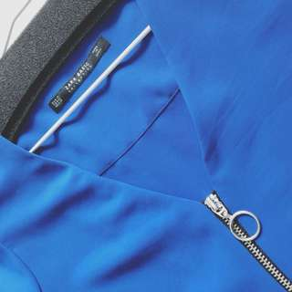 Zara royal blue silky top XS