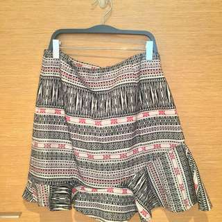 Paris品牌Bohemian Tweed Ruffle Skirt