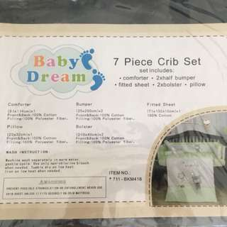 7 piece crib set