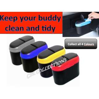 Mini Car Trash Can Clip On Rubbish Multipurpose Box