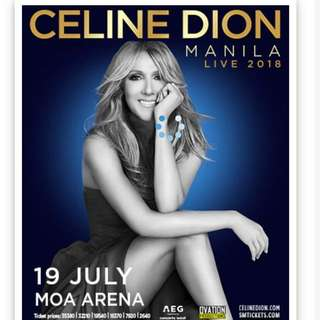 CELINE DION FRONT ROW VIP 2 CORAL TICKETS