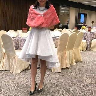 95%new 白色壓暗花長裙。結婚晚裝姊妹