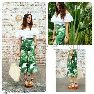 😇Terno off shoulder and wide leg pants