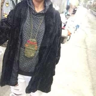 古著新衣 真皮皮草外套 M~L可以送給媽媽呦!
