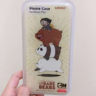 Miniso We Bare Bears Phone Case - iPhone 7Plus