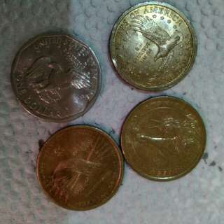 1 USD Coins 4pcs. for 500 pesos