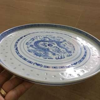 Blue white porcelain tray