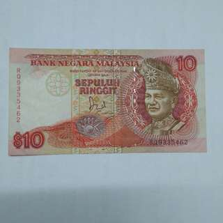 Malaysia RM 10 Ringgit banknote