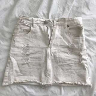 white cotton on skirt